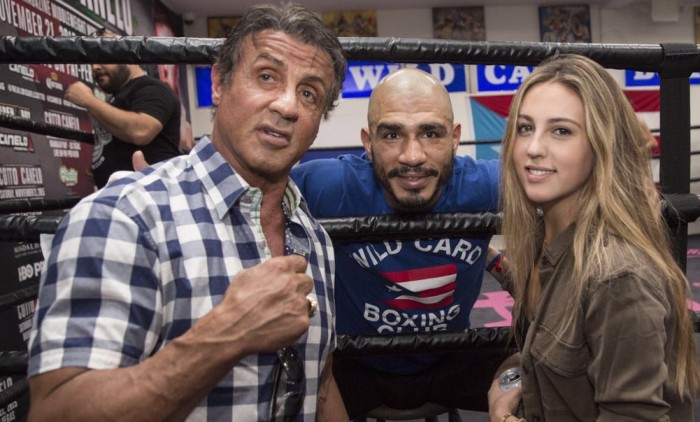 Sly Stallone at Wild Card Boxing Gym