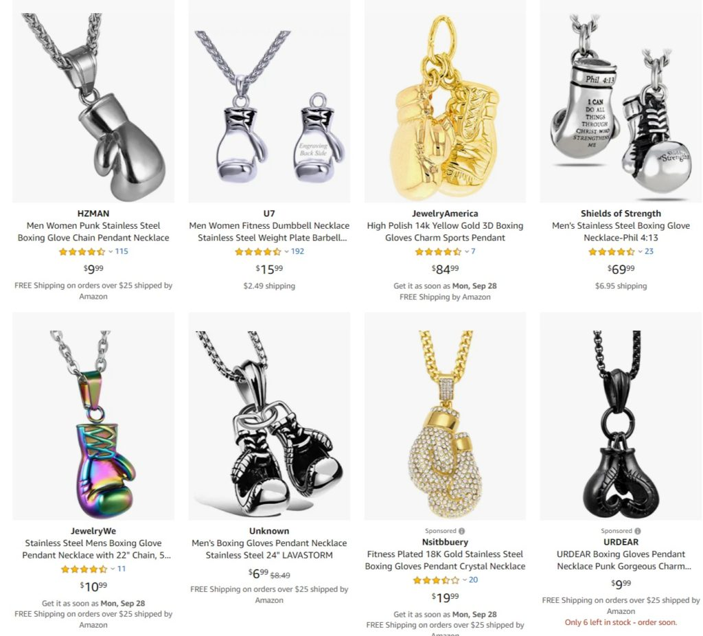 Personalized Boxing Pendants & Necklaces