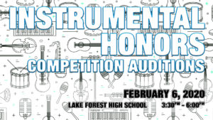 Instrumental Honors Competition Auditions 2020