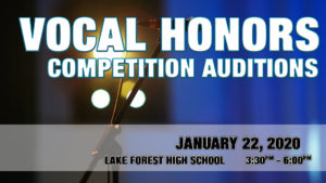 Vocal Honors Competition Auditions