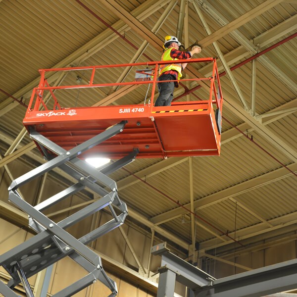 Scissorlift 40' SJ4740 | Rent-All located in Sioux Center, Spencer, Sioux Falls and Storm Lake | Scissorlift for Rent