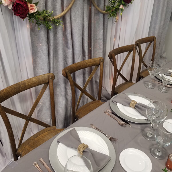 Pilgrim X Back Chair   Celebrations by Rent-All located in Sioux Center   Wedding Rental   Chairs For Rent