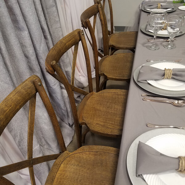 Pilgrim X Back Chair | Celebrations by Rent-All located in Sioux Center | Wedding Rental | Chairs For Rent