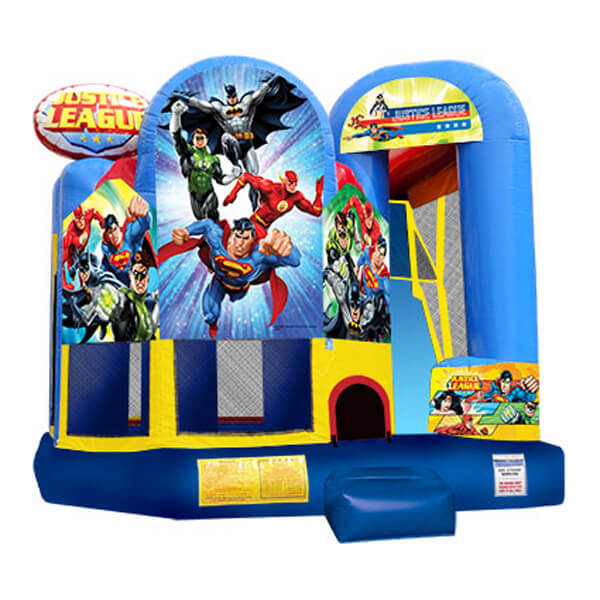 Justice League Bounce Combo   Inflatable for Rent   Rent-All located in Storm Lake