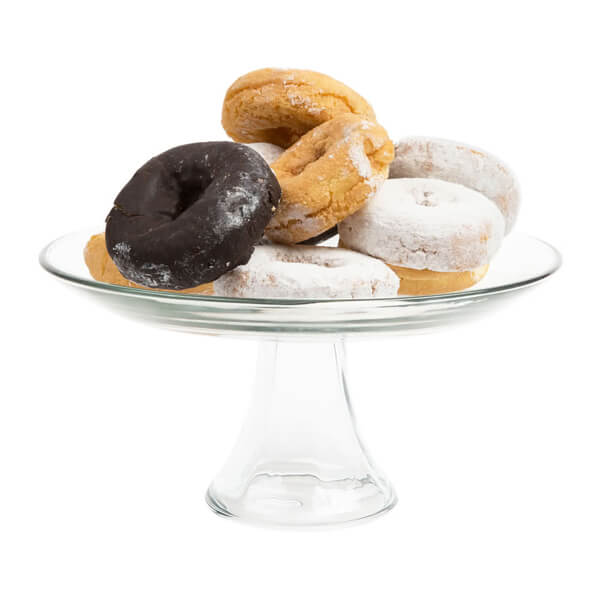 """Glass Anchor Cake Stand 10"""" 