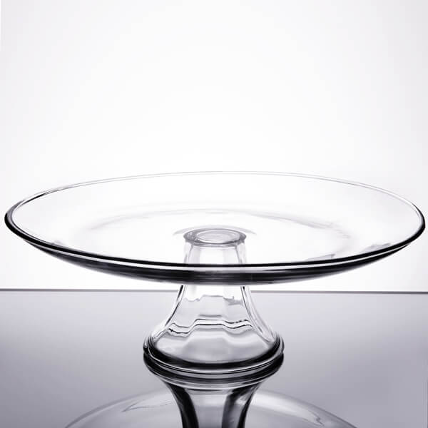 """Glass Anchor Cake Stand 13""""   Celebrations by Rent-All located in Sioux Center   Wedding Rentals   For Rent"""