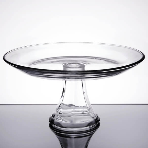 Glass Anchor Cake Stand 10"