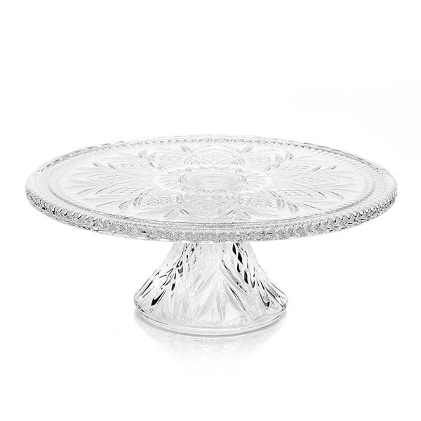 """Glass Dublin Cake Stand 12""""   Celebrations by Rent-All located in Sioux Center   Wedding Rentals   For Rent"""
