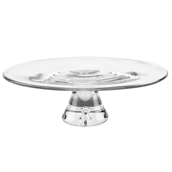"""Glass Galaxy Cake Stand 12"""" 