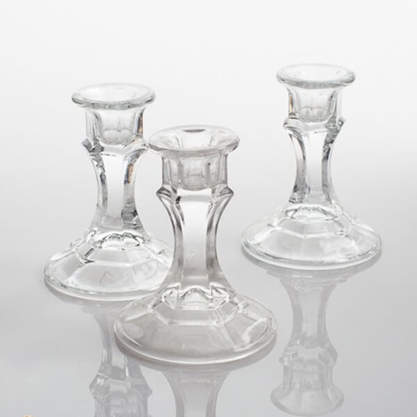 Glass Candlestick Holder | Celebrations by Rent-All located in Sioux Center | Wedding Rental | Candlestick Holder For Rent