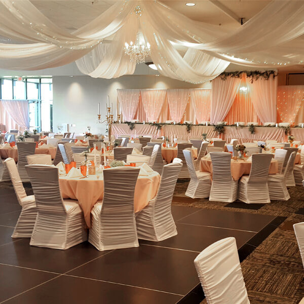Ceiling Drape   Celebrations by Rent-All located in Sioux Center   Wedding Rental   Ceiling Decor For Rent