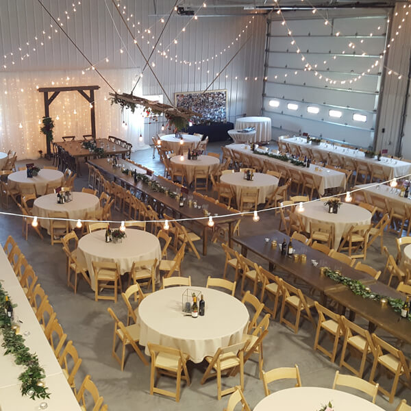 Ceiling Mini Globe Lights   Celebrations by Rent-All located in Sioux Center   Wedding Rental   Ceiling Decor For Rent
