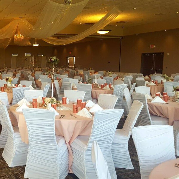 Chair Cover White Spandex | Celebrations by Rent-All located in Sioux Center and Storm Lake | Wedding Rentals | For Rent