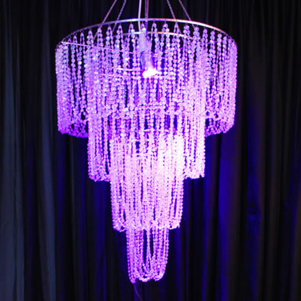 Beaded Chandelier | Celebrations by Rent-All located in Sioux Center | Wedding Rental | Ceiling Decor For Rent