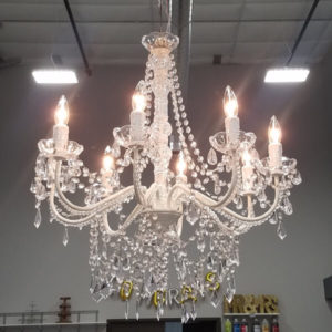 Queen Elaine Chandelier | Celebrations by Rent-All located in Sioux Center | For Rent | Decor Wedding Rentals