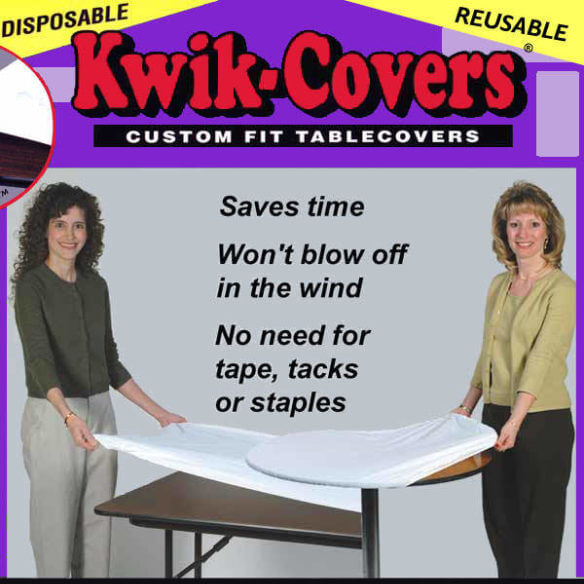 Disposable Covers | Celebrations by Rent-All located in Sioux Center and Storm Lake | Kwik Covers