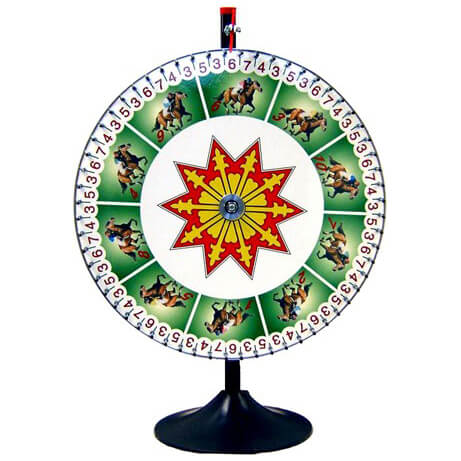 Horse Race Wheel | Celebrations by Rent-All located in Sioux Center | Kentucky Derby Wheel for Rent