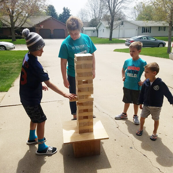 Jumbo Jenga   Rent-All located in Sioux Center   Games for Rent
