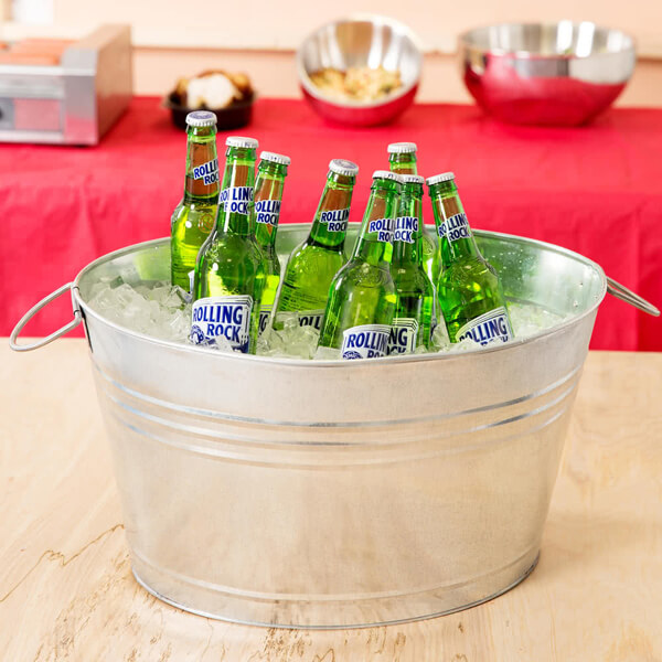Metal Tub Galvanized | Celebrations by Rent-All located in Sioux Center | Beverage Tub For Rent