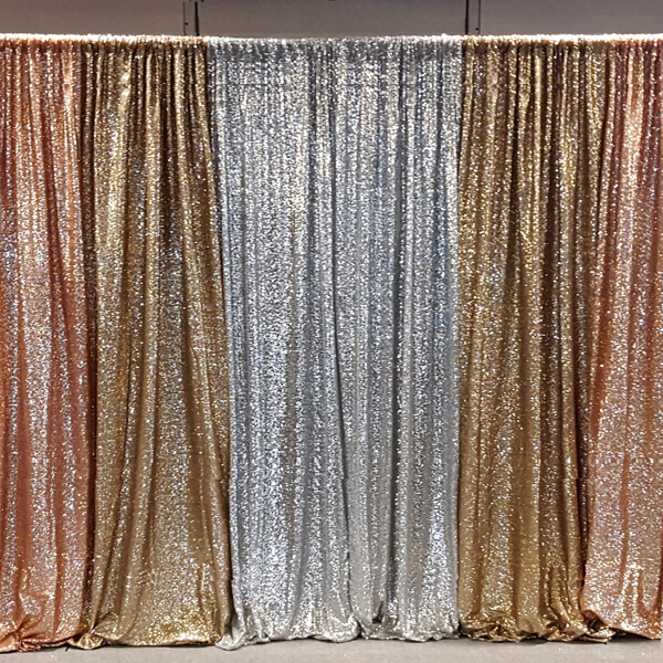 Metallic Glitz Backdrop | Celebrations by Rent-All located in Sioux Center | Wedding Rental | Backdrops For Rent
