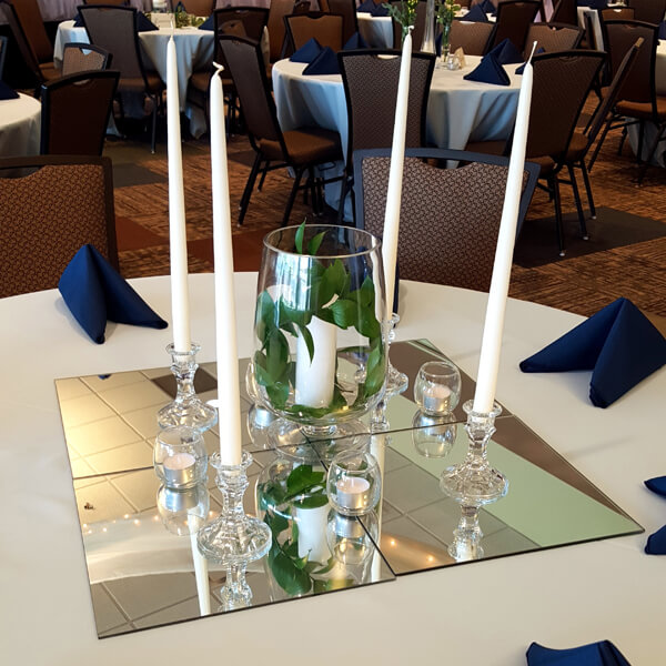 Mirror Squares | Celebrations by Rent-All located in Sioux Center | Wedding Rental | For Rent