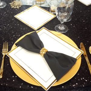 Black Napkin | Celebrations by Rent-All located in Sioux Center | Wedding Rental | Cloth Napkins For Rent