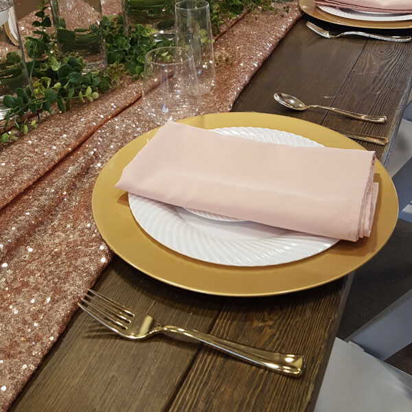 Blush Napkin | Celebrations by Rent-All located in Sioux Center | Wedding Rental | Cloth Napkins For Rent