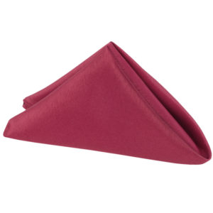 Burgundy Napkin | Celebrations by Rent-All located in Sioux Center | Wedding Rental | Cloth Napkins For Rent
