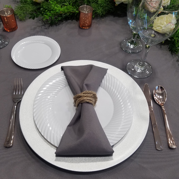 Charcoal Napkin | Celebrations by Rent-All located in Sioux Center | Wedding Rental | Cloth Napkins For Rent