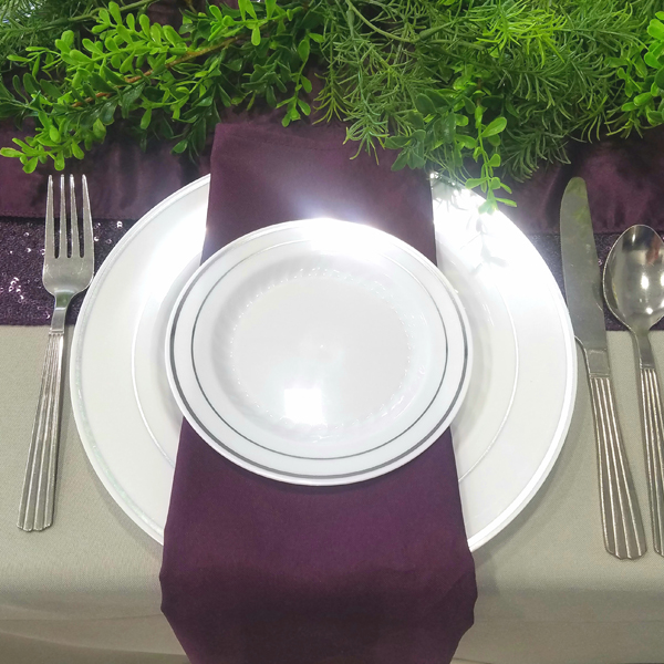 Plum/Eggplant Napkin | Celebrations by Rent-All located in Sioux Center | Wedding Rental | Cloth Napkins For Rent