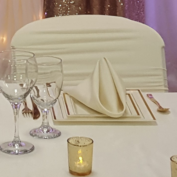 Ivory Napkin | Celebrations by Rent-All located in Sioux Center | Wedding Rental | Cloth Napkins For Rent