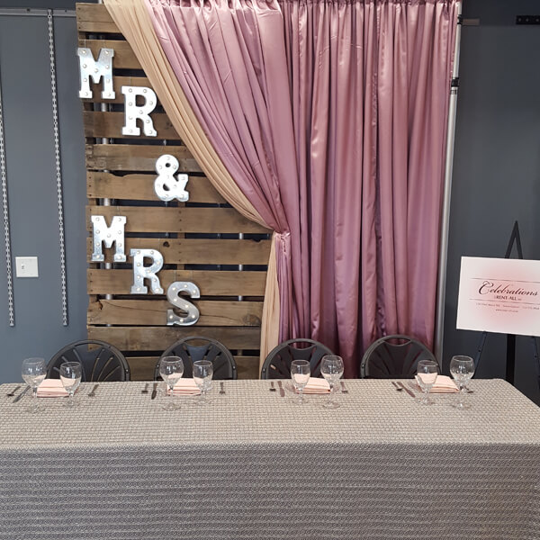 Pallet Backdrop | Celebrations by Rent-All located in Sioux Center | Wedding Rental | Backdrops For Rent