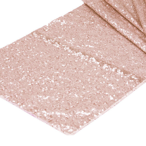 Blush Glitz Sequin Runner   Celebrations by Rent-All located in Sioux Center   Wedding Rental   Table Runners For Rent