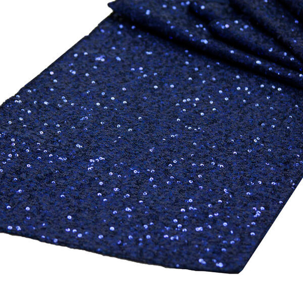 Navy Glitz Sequin Runner | Celebrations by Rent-All located in Sioux Center | Wedding Rental | Table Runners For Rent