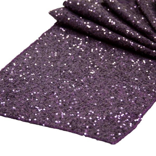 Plum Glitz Sequin Runner | Celebrations by Rent-All located in Sioux Center | Wedding Rental | Table Runners For Rent
