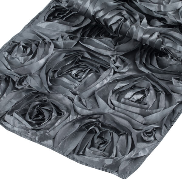 Pewter Rosette Runner   Celebrations by Rent-All located in Sioux Center   Wedding Rental   Table Runners For Rent