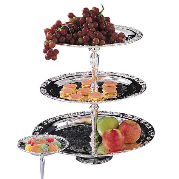 Silver 3 Tier Stand   Celebrations by Rent-All located in Sioux Center   For Rent   Serving Rentals