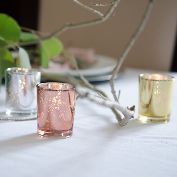 Rose Gold Candle Votive | Celebrations by Rent-All located in Sioux Center | Wedding Rental | Candle Holders For Rent