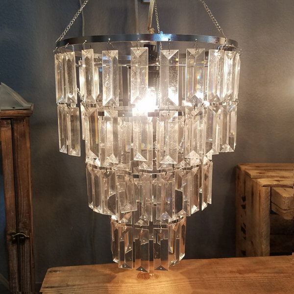 Faceted Chandelier | Celebrations by Rent-All located in Sioux Center | Wedding Decor For Rent