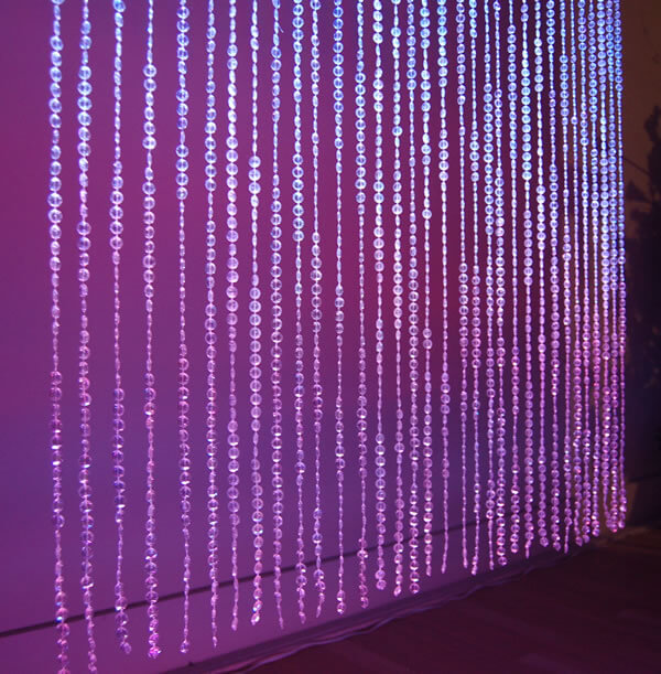 Crystal Curtain 12' | Celebrations by Rent-All located in Sioux Center | Wedding Decor For Rent
