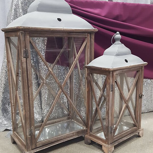 Large Wooden Lanterns   Celebrations by Rent-All located in Sioux Center   Wedding Decor For Rent