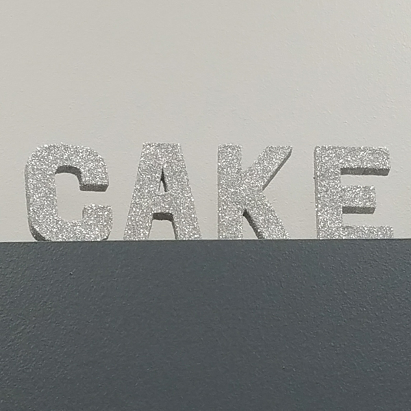 CAKE Letters - Silver   Celebrations by Rent-All located in Sioux Center   Wedding Sign Decor For Rent