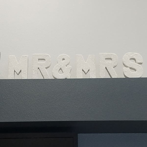 MR & MRS Letters - White | Celebrations by Rent-All located in Sioux Center | Wedding Sign Decor For Rent