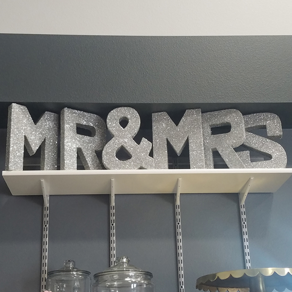 Mr & Mrs Letters - Silver | Celebrations by Rent-All located in Sioux Center | Wedding Decor For Rent