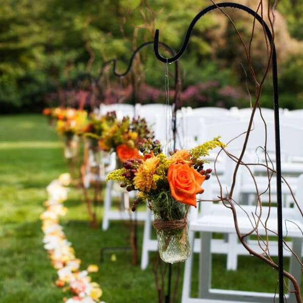 Shepherd Hooks   Celebrations by Rent-All located in Sioux Center   Wedding Isle Decor For Rent