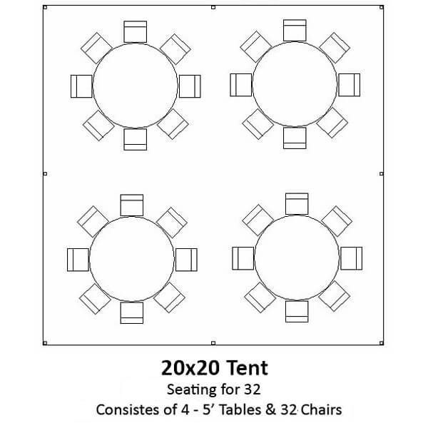 20x20 Frame Tent   Celebrations by Rent-All located in Sioux Center and Storm Lake   Tents for Rent