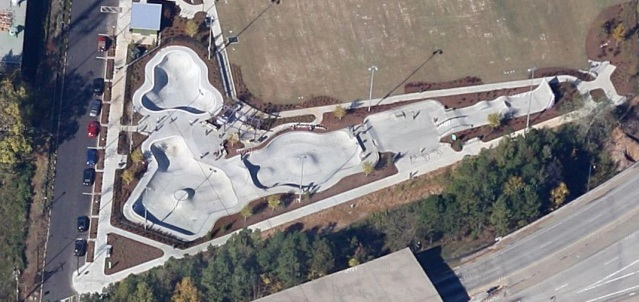 Historic Fourth Ward Park Skate Park Aerial View