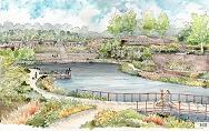 artist rendering of Historic Fourth Ward Park Atlanta