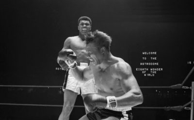 Boxer Muhammad Ali Knocking Out Cleveland Williams