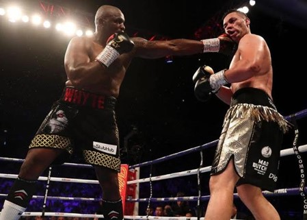 Dillion Whyte Connects With Joseph Parker